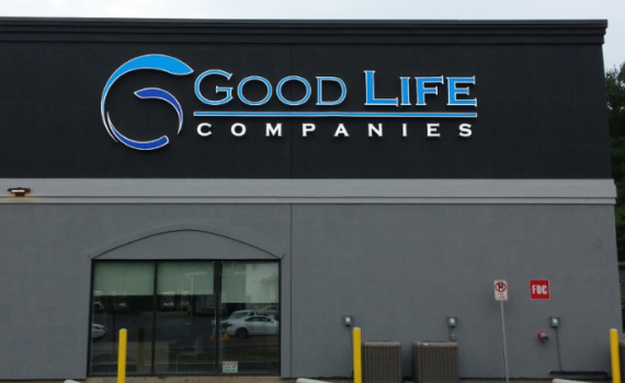 Good Life Companies - Outdoor Lighted business Sign